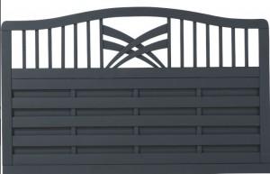Plus Rondo hegn antracit 180x104-112