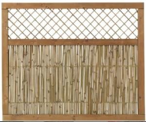 Plus bambus hegn med espalier 120x100cm